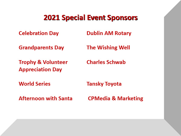 2021 Special Event Sponsors
