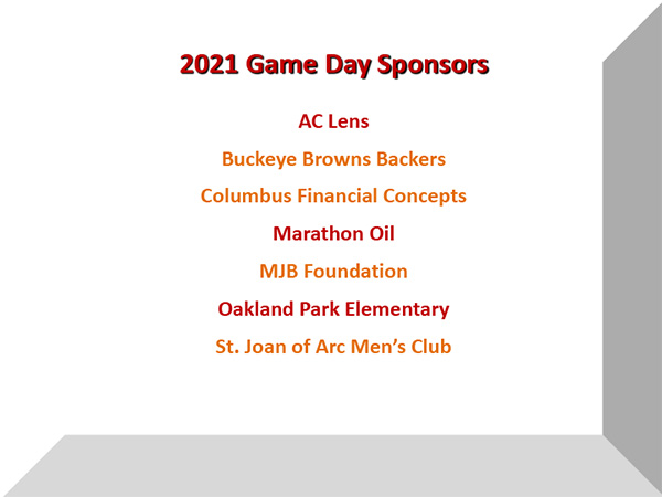 2021 Game Day Sponsors